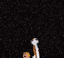 Calvin and Hobbes by bassesafari