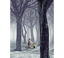 Calvin and Hobbes Winter Photographic Print