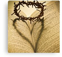 Crown Of Thorns with Open Bible Canvas Print