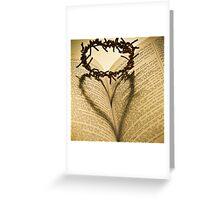 Crown Of Thorns with Open Bible Greeting Card