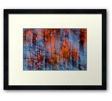 Flaming Fall Framed Print
