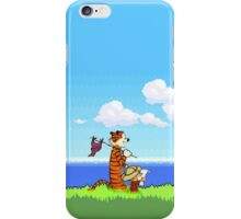 Calvin and Hobbes 16 Bit iPhone Case/Skin