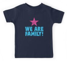 WE ARE FAMILY! with pink star Kids Tee