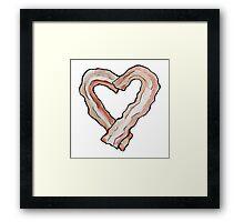 Bacon Heart Framed Print