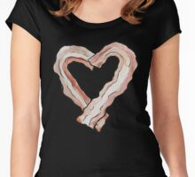 Bacon Heart Women's Fitted Scoop T-Shirt