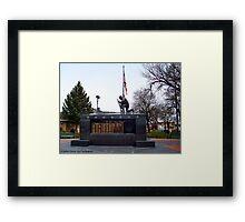 Veteran's Memorial - Depot Park Framed Print