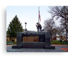 Veteran's Memorial - Depot Park Canvas Print