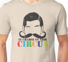 In charge of this CIRCUS with ringleader man mustache distressed version Unisex T-Shirt