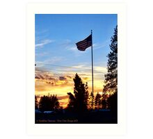 Old Glory Sunset Art Print