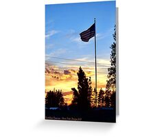 Old Glory Sunset Greeting Card