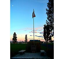 Old Glory Dusk (Veteran's Memorial) Photographic Print