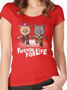 Bebop & Rocksteady  Women's Fitted Scoop T-Shirt