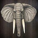 Elephant Head Mount by Walter Colvin