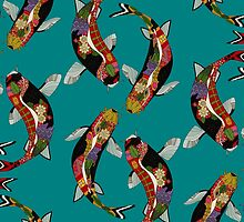 koi teal by Sharon Turner