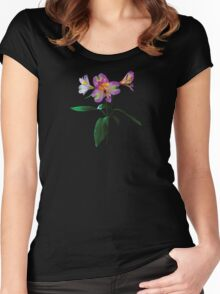 Lovely Pink Asiatic Lilies Women's Fitted Scoop T-Shirt