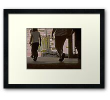 Walking in Construction Zone Framed Print