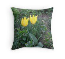 Pair of tulips Throw Pillow