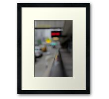 Green light means go, but watch for pedestrians Framed Print