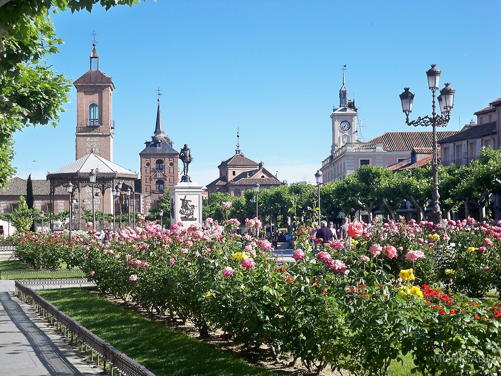 Cervantes Plaza, Alcala de Henares, Madrid, Spain by MONIGABI
