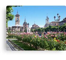 Cervantes Plaza, Alcala de Henares, Madrid, Spain Canvas Print