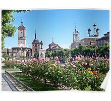 Cervantes Plaza, Alcala de Henares, Madrid, Spain Poster
