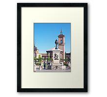 Cervantes Plaza, Alcala de Henares, Madrid, Spain Framed Print