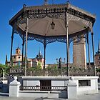 Quiosco de la Musica (Bandstand), Cervantes Plaza, Alcala de Henares, Madrid, Spain by MONIGABI