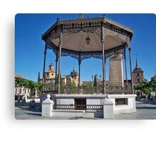 Quiosco de la Musica (Bandstand), Cervantes Plaza, Alcala de Henares, Madrid, Spain Canvas Print