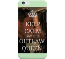 Keep Calm and Ship Outlaw Queen iPhone Case/Skin