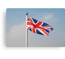 Union Jack flag, England Canvas Print