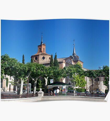 Judge's Chapel, Cervantes Plaza, Alcala de Henares, Madrid, Spain Poster