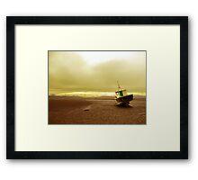 Boat at low tide Framed Print