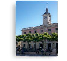 City Hall, Cervantes Plaza, Alcala de Henares, Madrid, Spain Canvas Print
