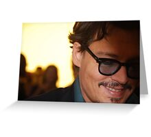 Johnny Depp @ Pirates of the Caribbean 4 Premiere Greeting Card