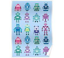 Robot Grid  Poster