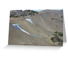 Obstruction Point Ice Greeting Card