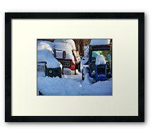 Farm Trucks Framed Print