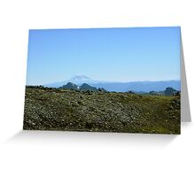 Mt Rainer Hikers 1 Greeting Card