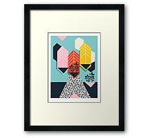 Legit - throwback 80s style memphis neon texture art print pop art dorm college hipster trendy urban brooklyn palm springs Framed Print