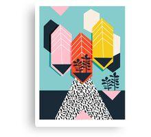 Legit - throwback 80s style memphis neon texture art print pop art dorm college hipster trendy urban brooklyn palm springs Canvas Print