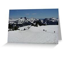 Mt Rainer Hikers 2 Greeting Card