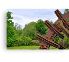The Old Water Wheel Canvas Print
