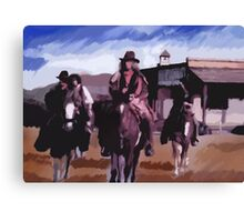 Saloon Drifters Canvas Print