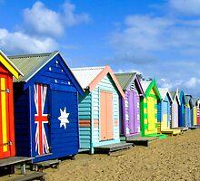 Beach Huts at Brighton Victoria by Pauline Tims