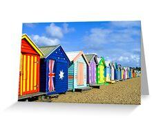 Beach Huts at Brighton Victoria Greeting Card