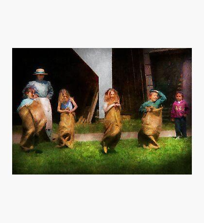 Children - The sack race  Photographic Print
