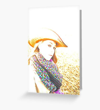 Cowgirl Assistance Greeting Card