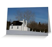 House in Winter Snow Greeting Card