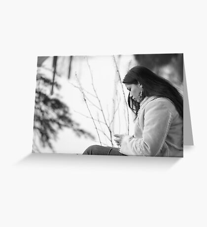 Pensive With Gaea Surrounding Greeting Card