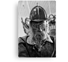 Old Fireman Canvas Print